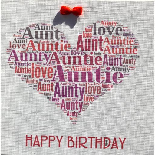 AUNT  BIRTHDAY   order code 380