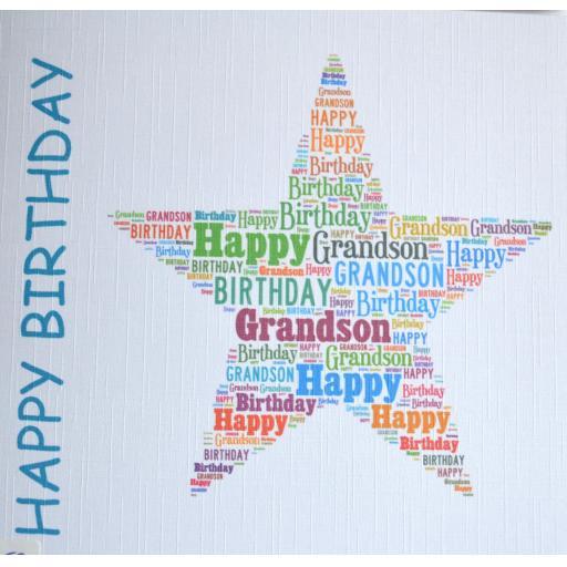 Happy Birthday GRANDSON - order code 452