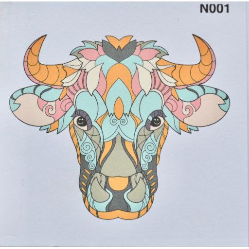 Notelet - Bull (order code NO01)