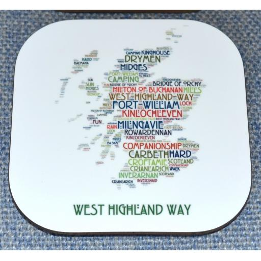 WEST HIGHLAND WAY MAP COASTER