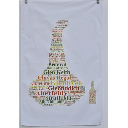 WHISKY STILL AND BOTTLE TEA TOWEL