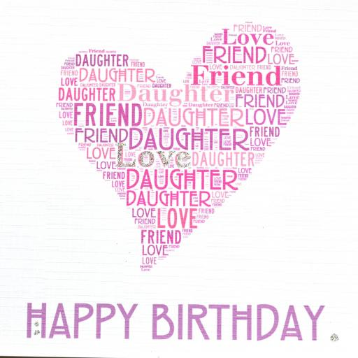DAUGHTER HAPPY BIRTHDAY with sparkle  (order code 415)