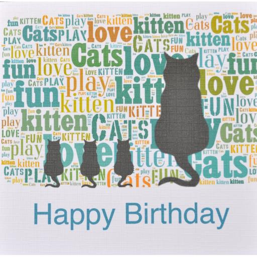 CAT FAMILY HAPPY BIRTHDAY - order code 210