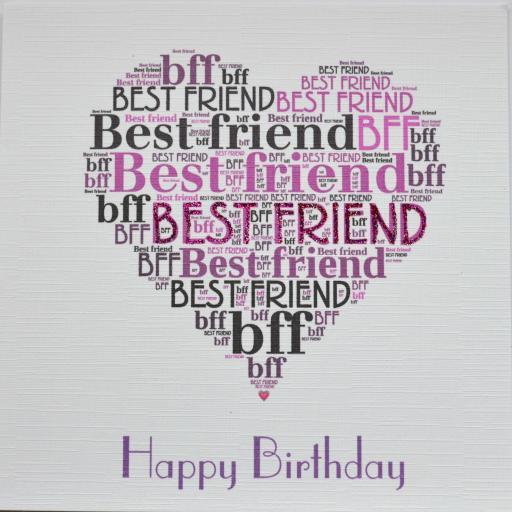 BEST FRIEND HAPPY BIRTHDAY with sparkle (order code 389)