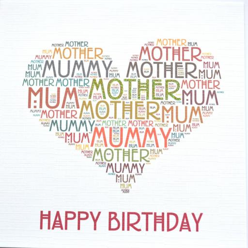MUM HAPPY BIRTHDAY with sparkle  (order code 376)