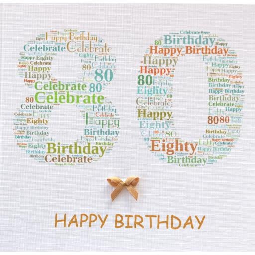 80th BIRTHDAY order code 232