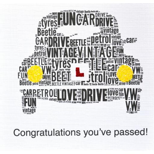 DRIVING TEST PASS with sparkle  (order code 265)