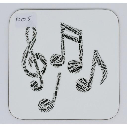 Coaster - Music Notes (order code C005)