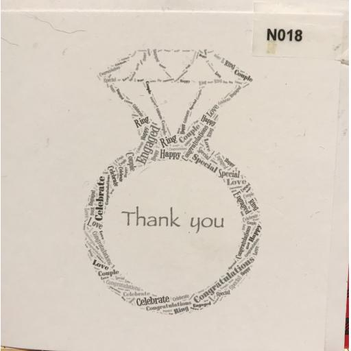 NOTELETS Engagement/Wedding Thank You - order code N018