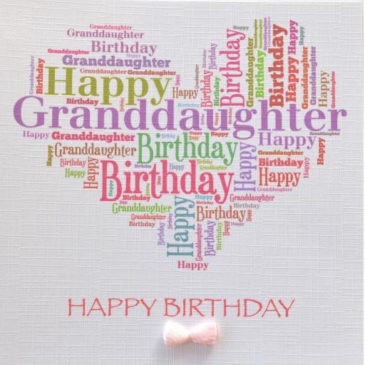 GRANDDAUGHTER BIRTHDAY order code 417