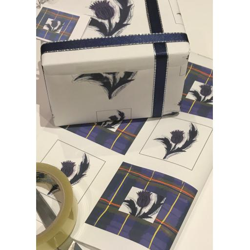 TARTAN AND THISTLE WRAPPING PAPER