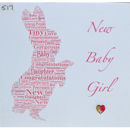517 Rabbit baby card