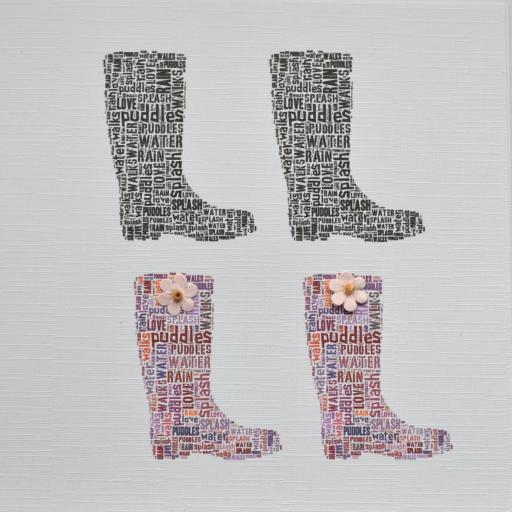 HIS AND HERS WELLIES with flowers - order code 255
