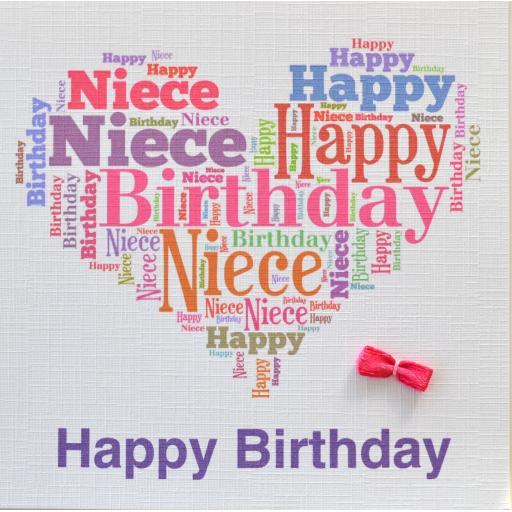 NIECE HAPPY BIRTHDAY  order code 416