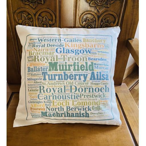Golf courses of Scotland Cushion